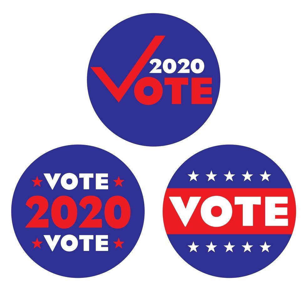 Rundschreiben zur Wahlabstimmung 2020 vektor