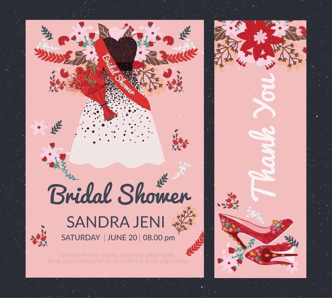 bridal shower inbjudan vol 2 vektor