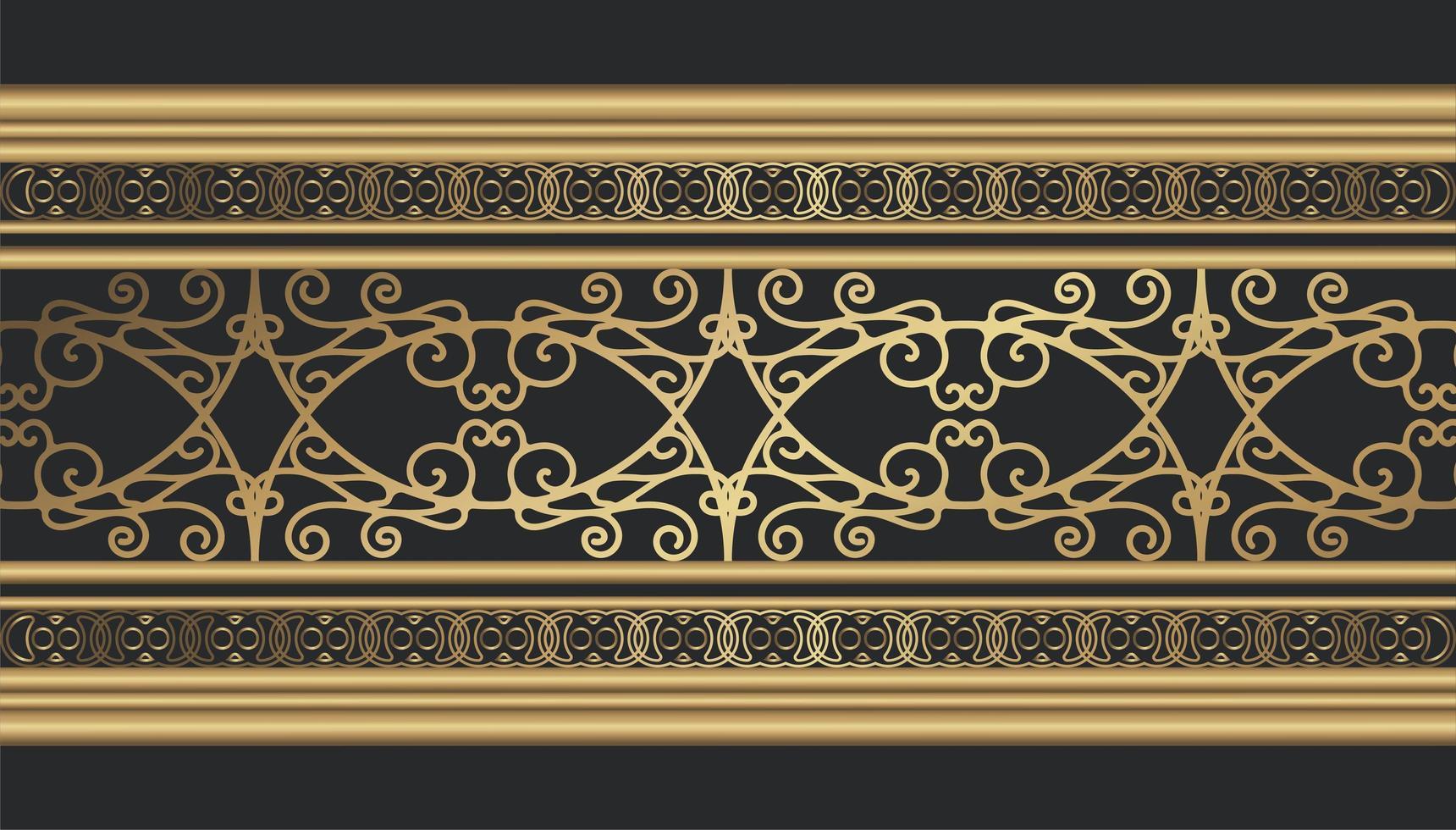gyllene dekorativa gränsen vektor