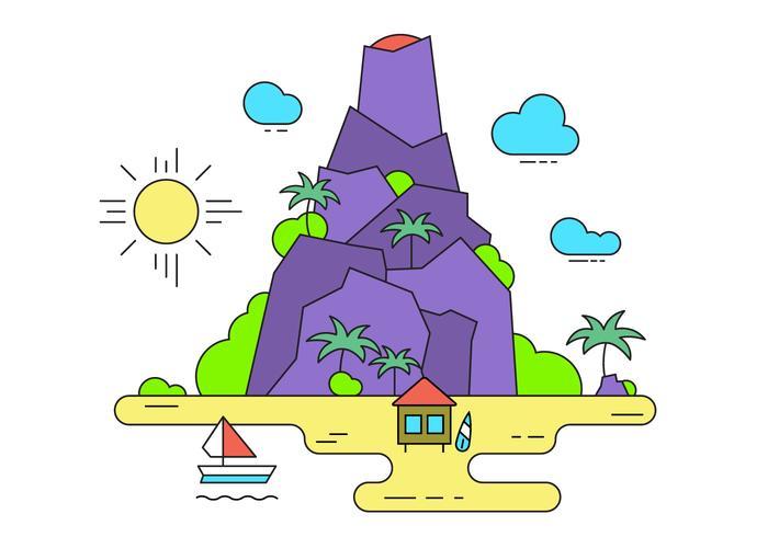 Vulkan-Vektor-Insel vektor