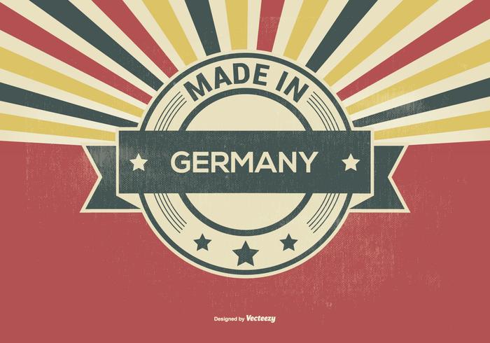 Retro-Stil in Deutschland Illustration gemacht vektor