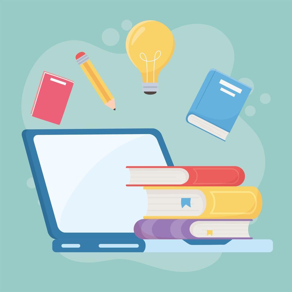 online utbildningsmaterial ikon vektor