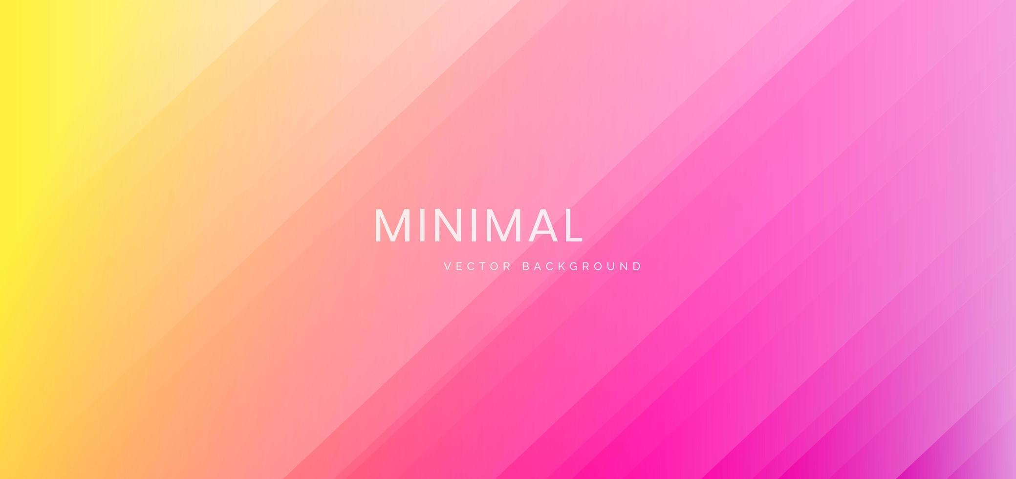 gelber, rosa Farbverlaufshintergrund mit gestreiften diagonalen Linien vektor