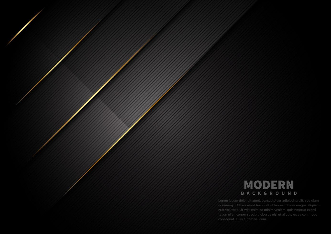abstrakt mörk svart färg bakgrund överlappande lager vektor