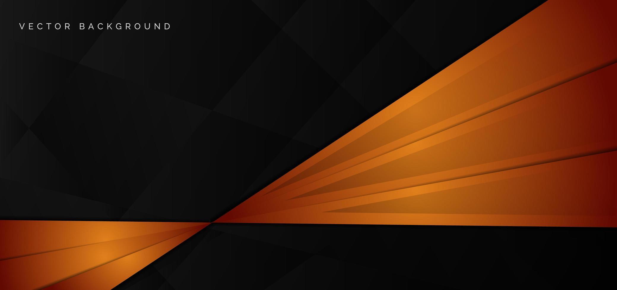 Hochglanzbanner aus orangefarbenen, schwarzen Winkeln vektor