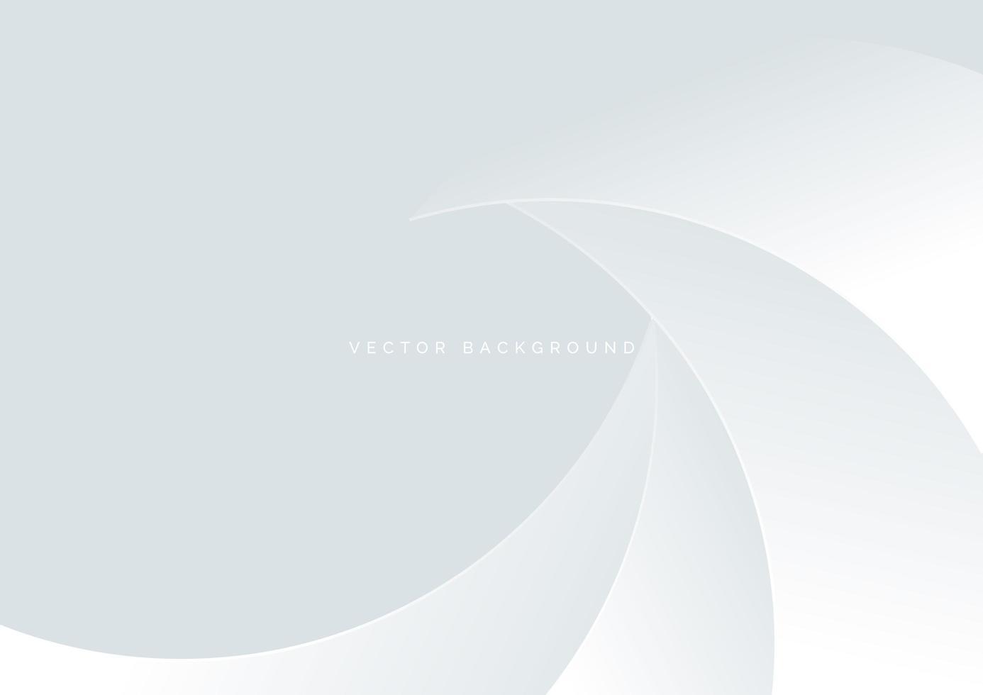 weiße Überlappung der abstrakten Kurve auf weißem Hintergrund vektor