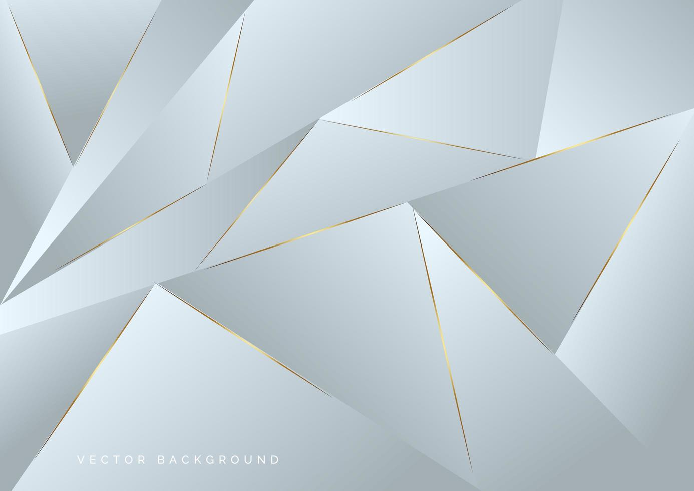 abstrakt grått polygonmönster med guld laserljuslinjer vektor