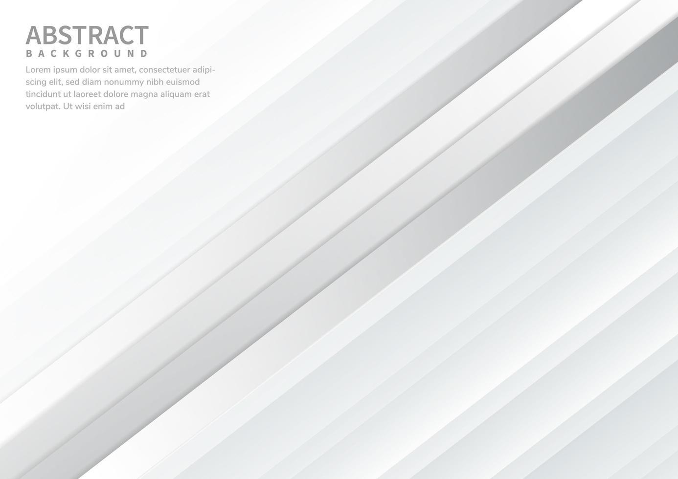 abstrakte diagonale weiße Schichten Hintergrund vektor