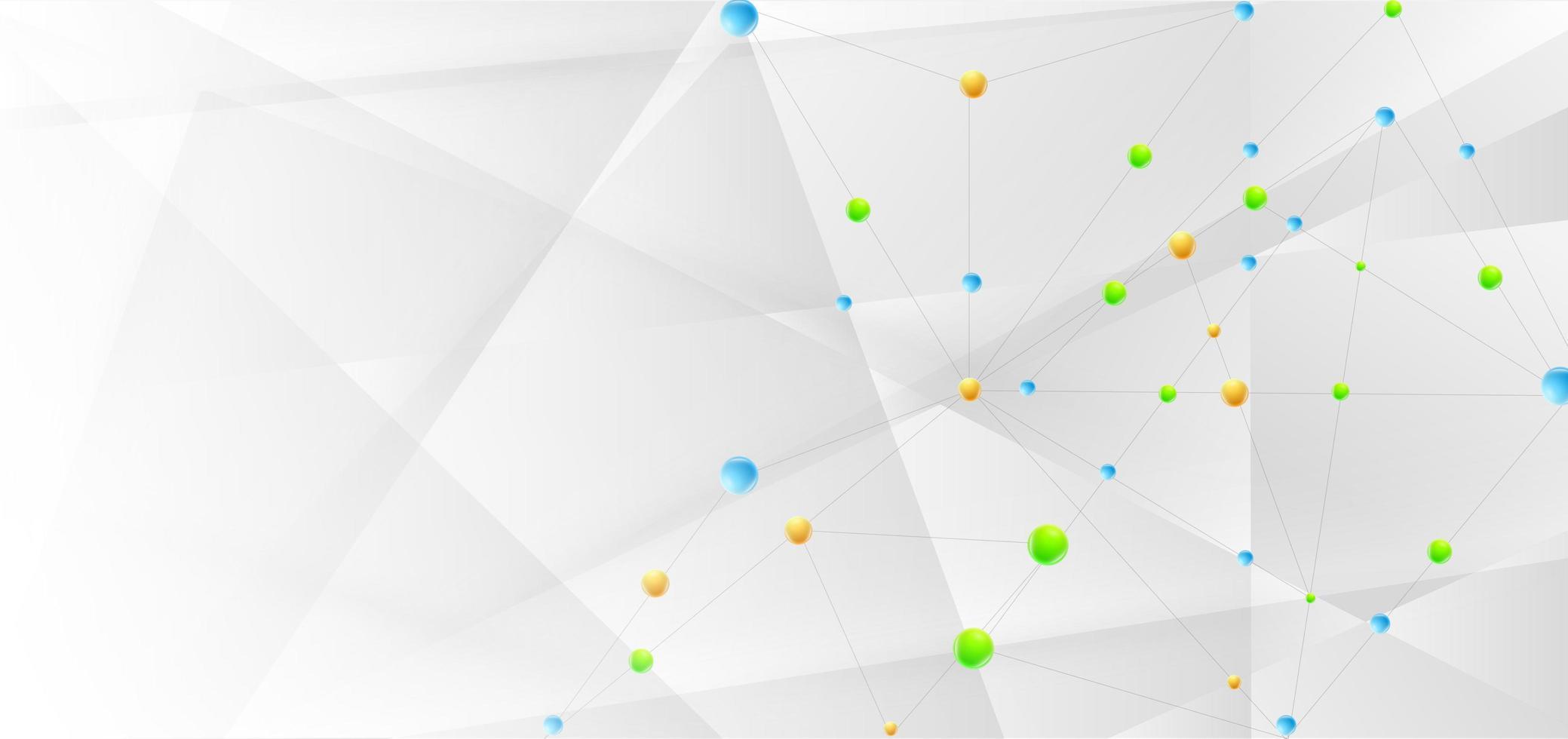 banner abstrakt teknologi ansluta koncept anslutande linjer och prickar vektor