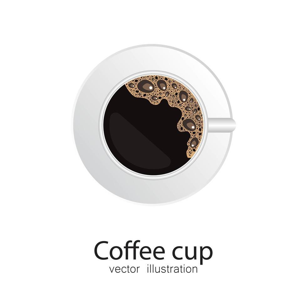 kaffekopp isolerad vektor