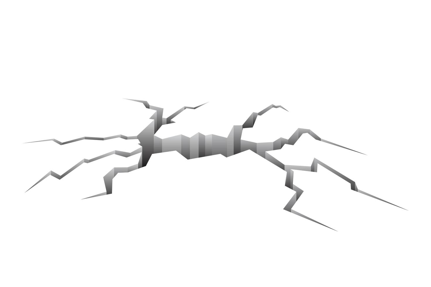 isolerad spricka i marken vektor