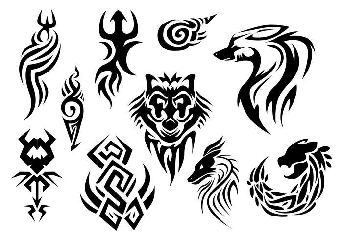 Freie Nadelstreifen Tattoo Vektor