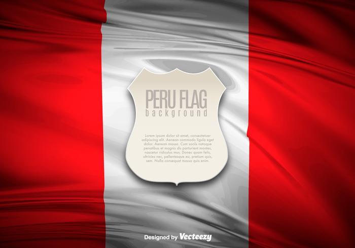 Peru flagga illustration banner vektor