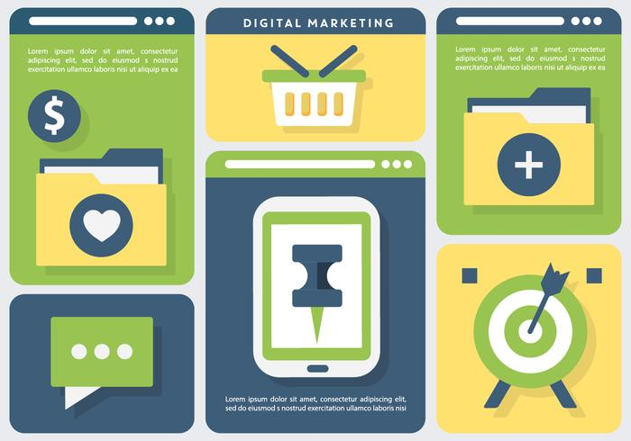 Online-Marketing-Business-Vektor-Illustration vektor