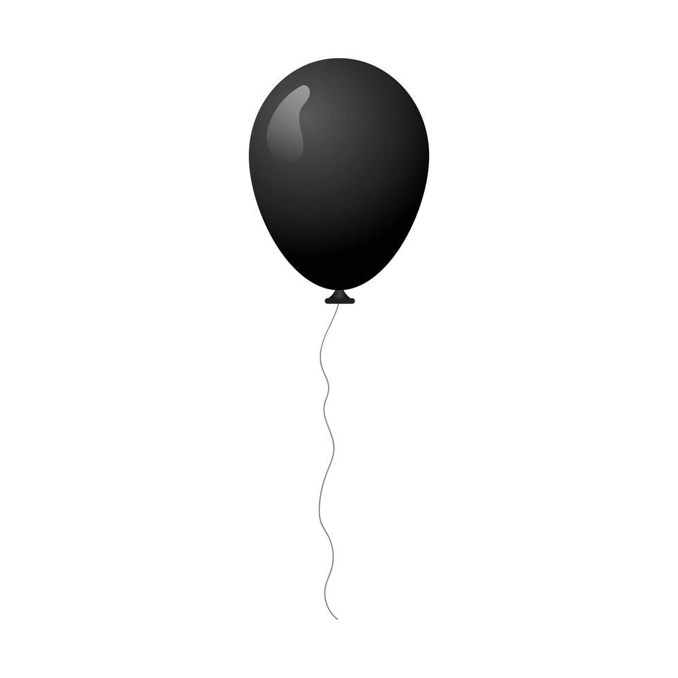 schwarzer Geburtstagsballon vektor