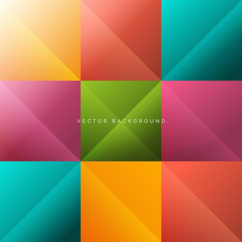 abstrakter, bunter quadratischer Hintergrund vektor