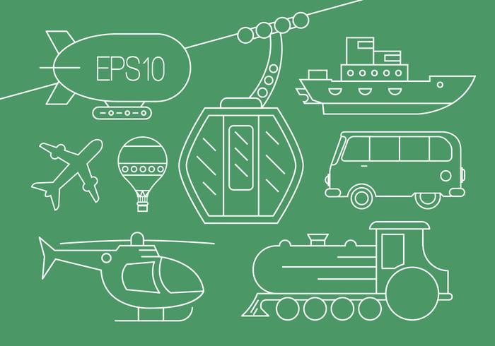Transport Vektor Icons
