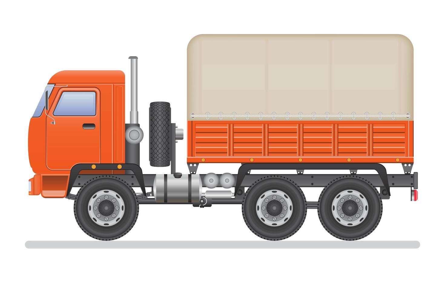 orange LKW isoliert vektor