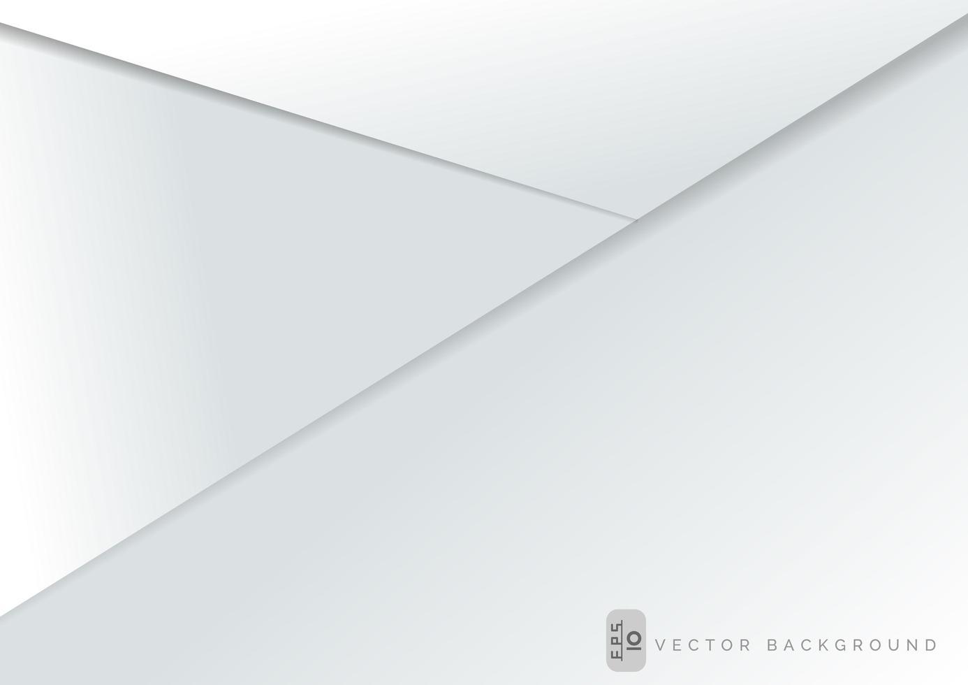 weiße Papierschichten Hintergrundschablone vektor