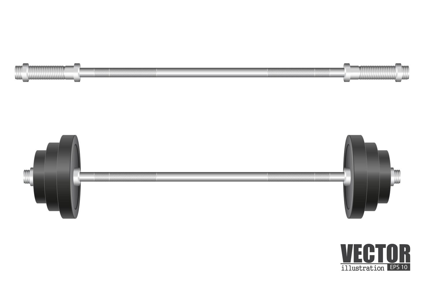 Langhantel für Fitnessstudio vektor