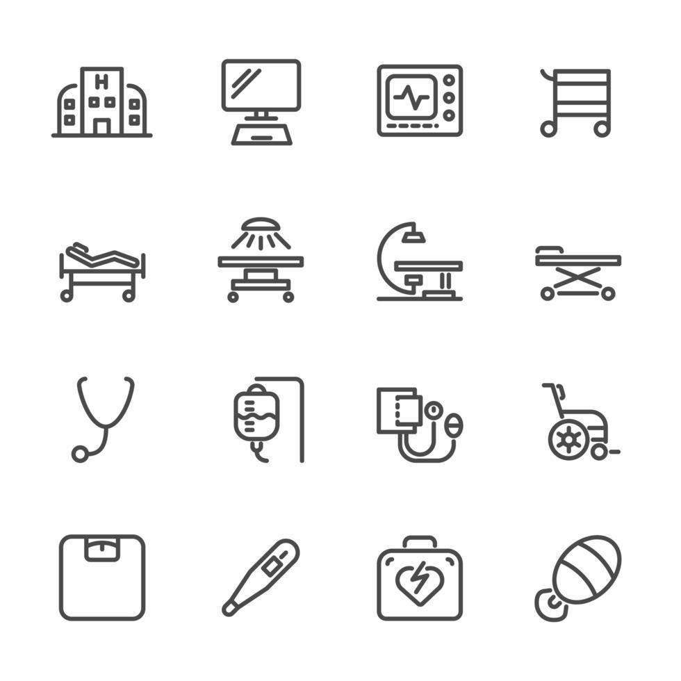 Symbol für Krankenhaus- und medizinische Geräte vektor