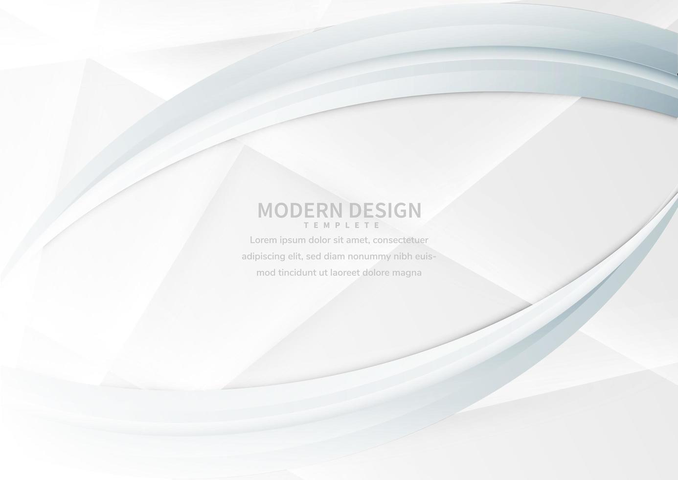 abstrakt och modern vit lutningsbakgrund vektor