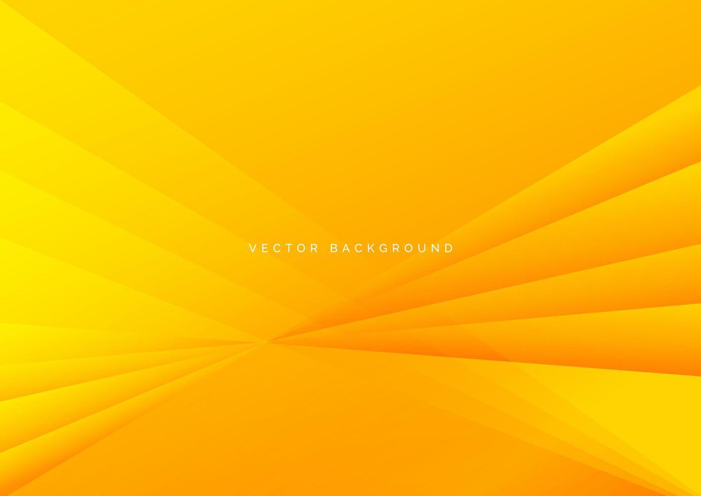 abstrakter und geometrischer gelber und orange diagonaler Hintergrund vektor