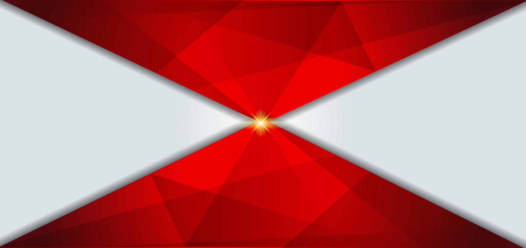 geometrischer weißer und roter Hintergrund vektor