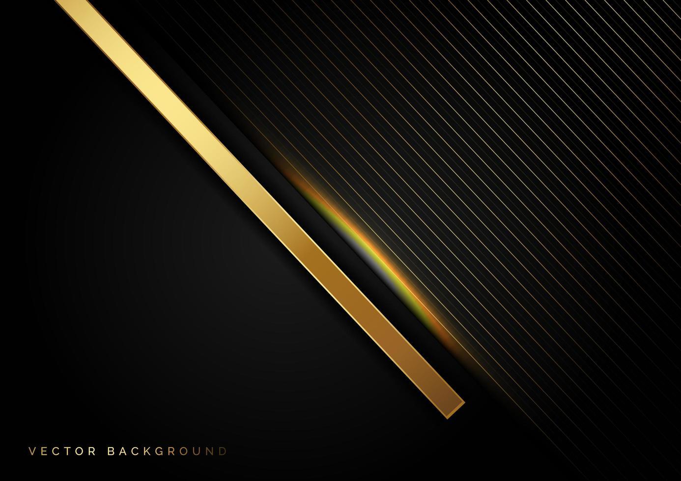 goldene diagonale Linien mit Lichteffekt-Luxus-Hintergrund vektor