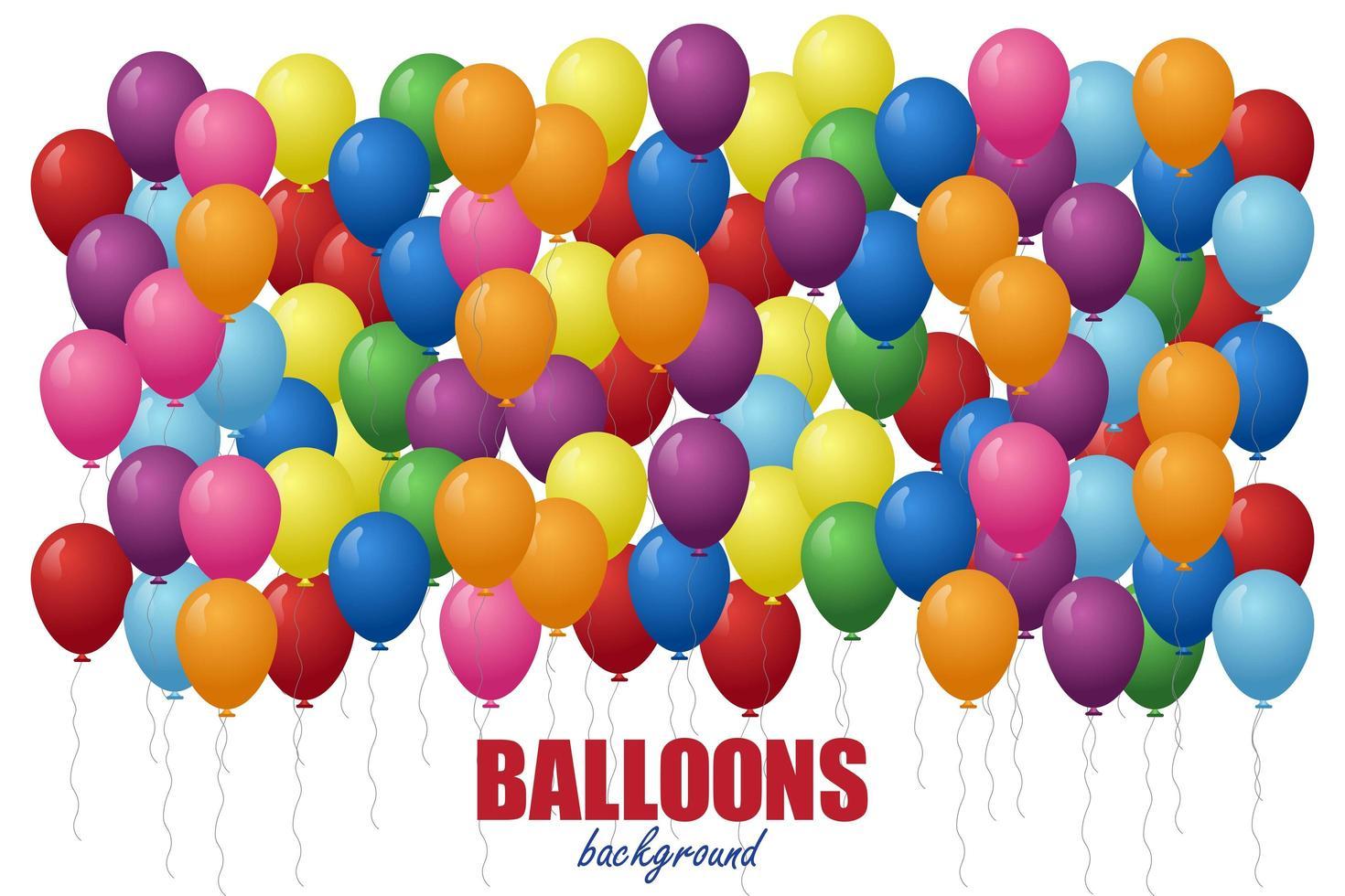 ballonger bakgrund på vit bakgrund. vektor