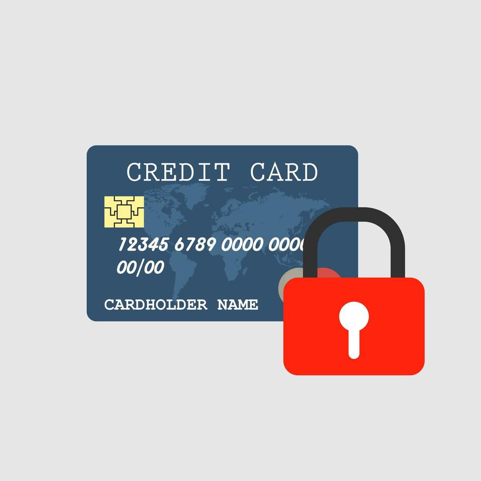 Kreditkartensicherheit vektor