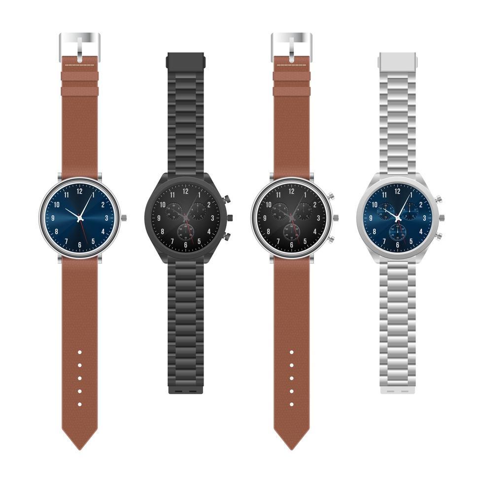 realistische elegante Armbanduhr vektor