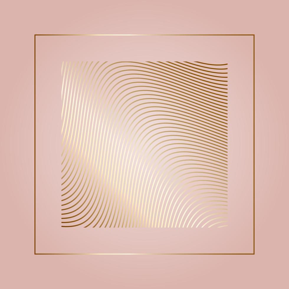 Goldwellenhintergrund vektor