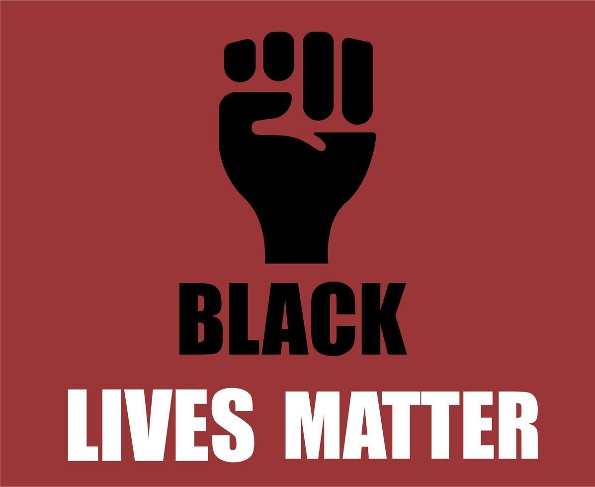 Schwarze Leben zählen vektor