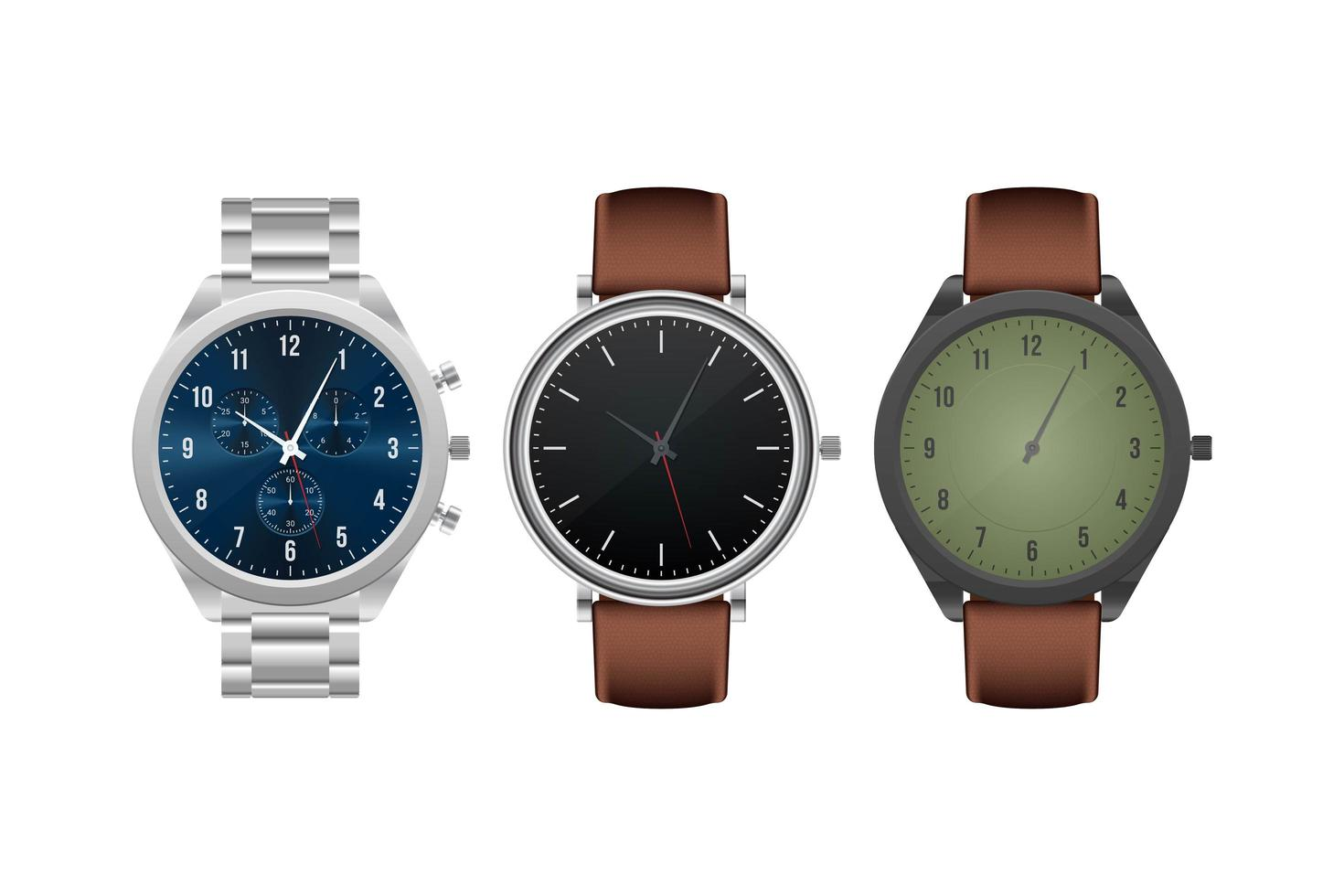 realistische Armbanduhr isoliert vektor