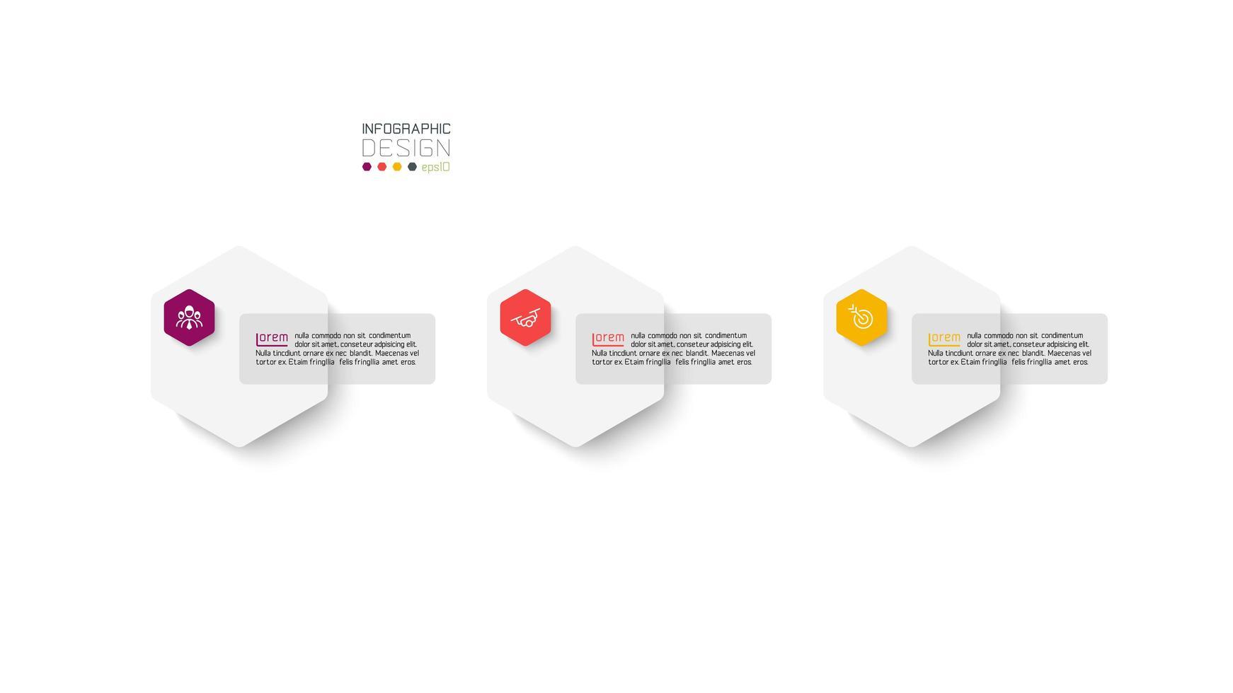Sechseck Infografik Präsentation vektor