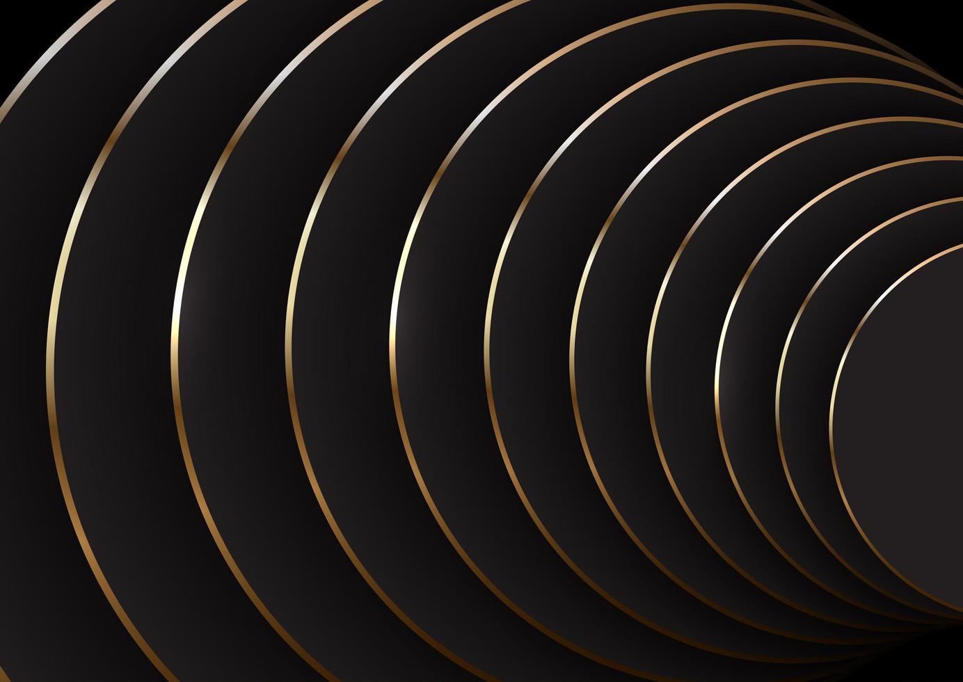 Hintergrund in Schwarz und Gold vektor