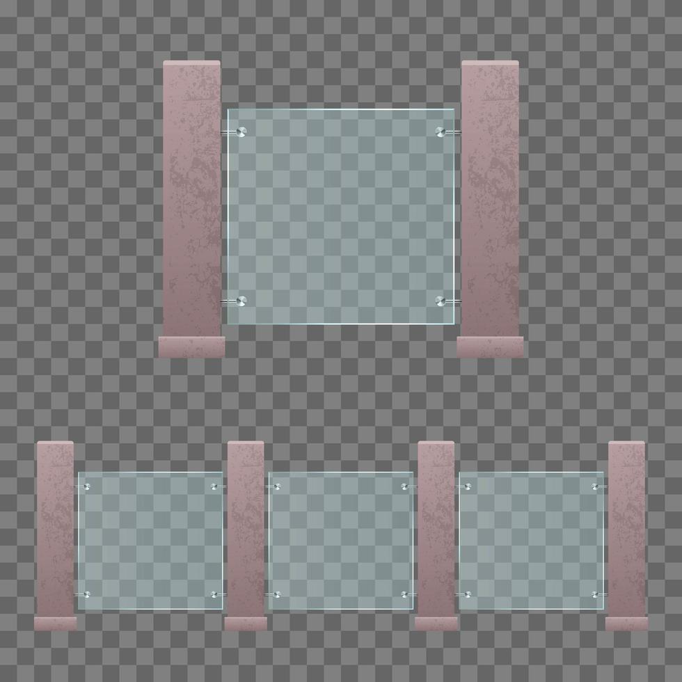 modernes Glasgebäude Geländer vektor