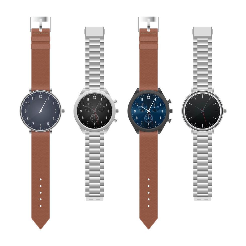 realistische stilvolle Armbanduhr vektor