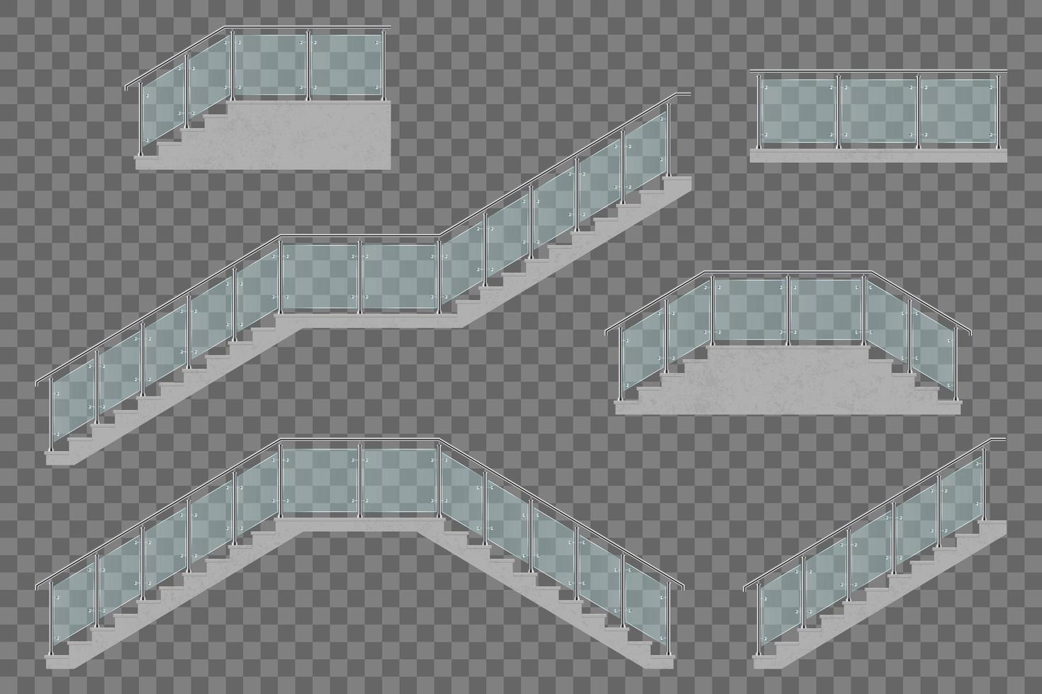 Treppe mit Glasgeländer vektor