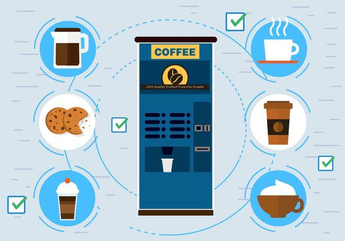Kostenlose Vektor Kaffeemaschine