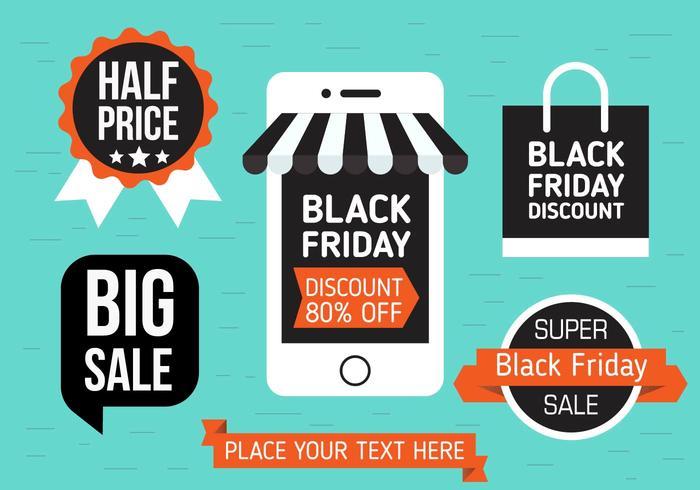 Kostenlose Black Friday Vector Shopping