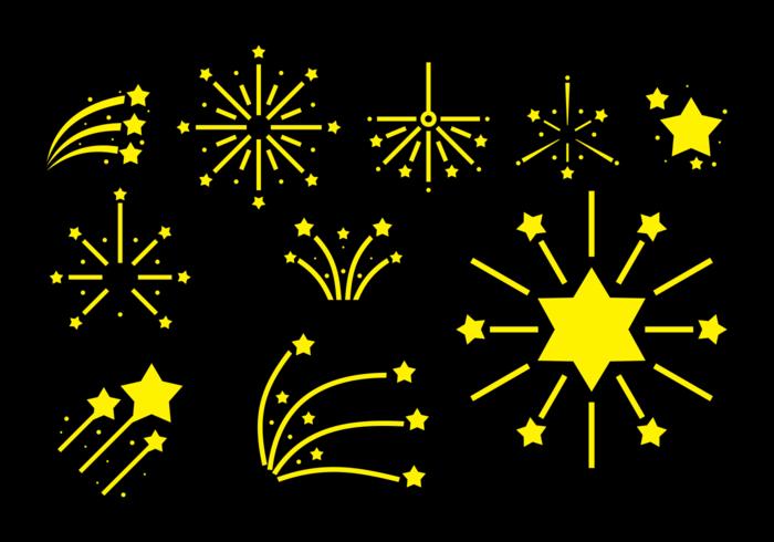 Feuer Cracker Vektor Icons
