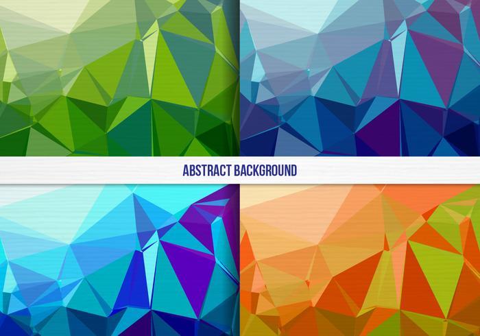 Free Vector bunte geometrische Hintergrund-Sammlung