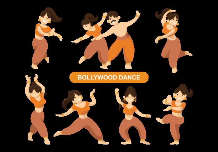 Indischer Bollywood Tanzender Vektor