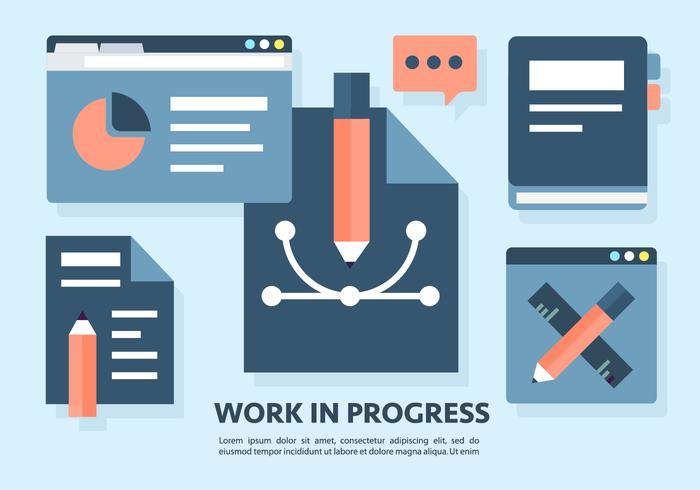 Gratis arbete i framgang Vektor illustration