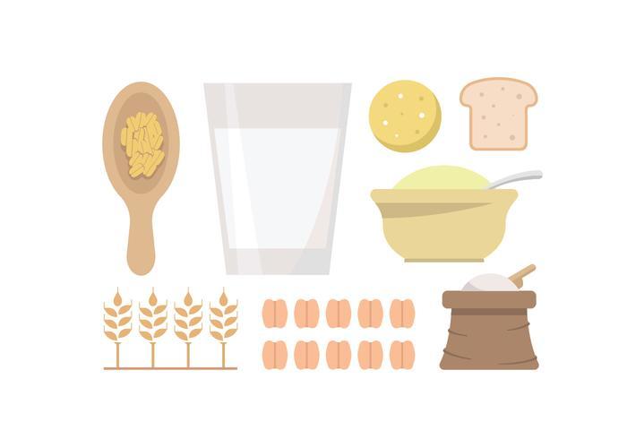 Havregryn och kornvektorer vektor