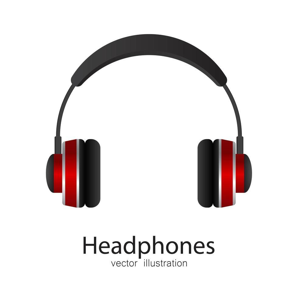 Kopfhörer isoliert auf weiß vektor