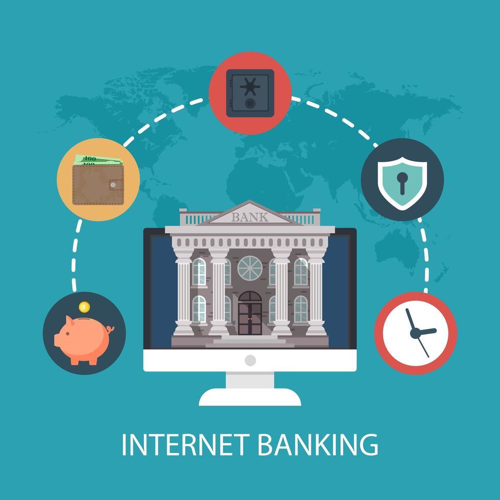 internetbank koncept vektor
