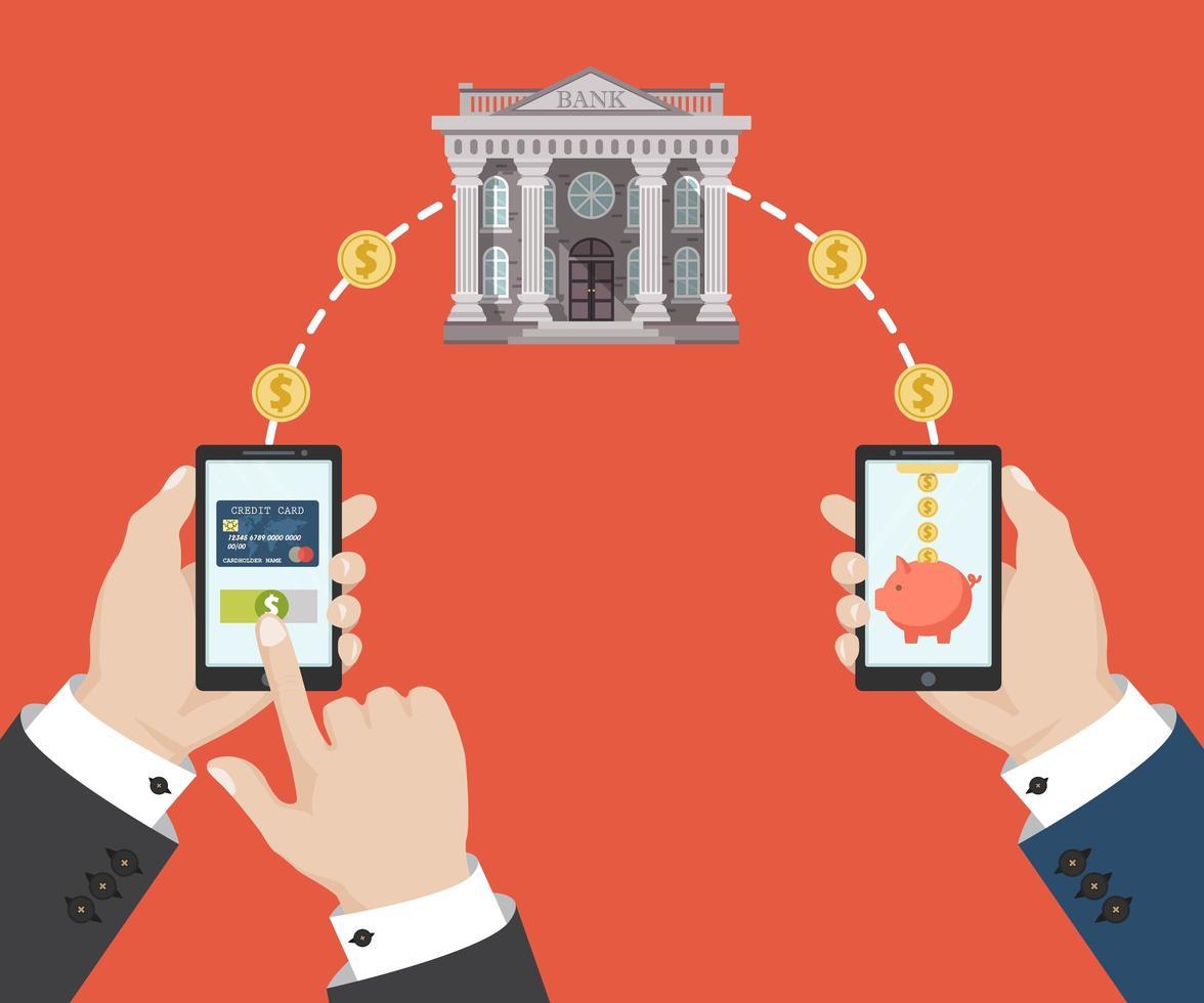 mobilbanktransaktion vektor